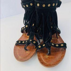 4e77a01ade917e Sam Edelman Dazey Fringe Boho Studded Sandal